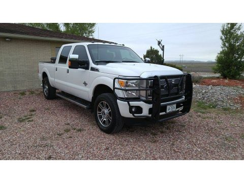 Oxford White Ford F250 Super Duty Platinum Crew Cab 4x4.  Click to enlarge.