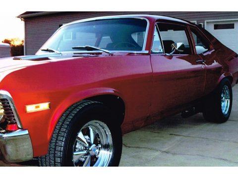 Vivid Red Chevrolet Nova .  Click to enlarge.