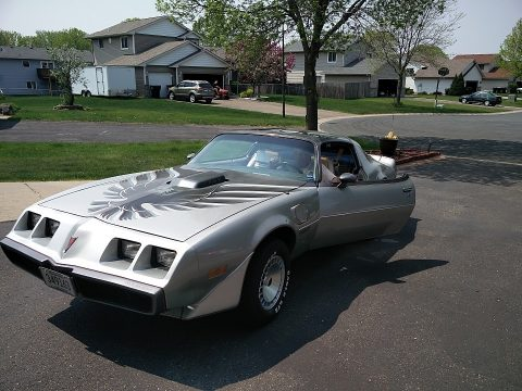 10th Anniversary Silver/Charcoal Pontiac Firebird 10th Anniversary Trans Am.  Click to enlarge.