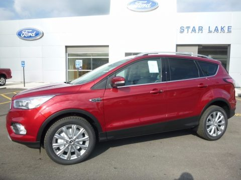 Ruby Red Ford Escape Titanium 4WD.  Click to enlarge.