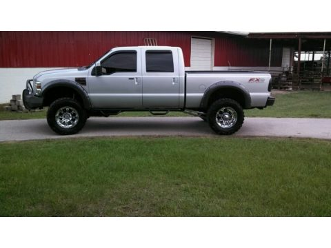Silver Metallic Ford F250 Super Duty FX4 Crew Cab 4x4.  Click to enlarge.
