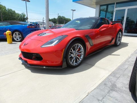 Torch Red Chevrolet Corvette Z06 Coupe.  Click to enlarge.
