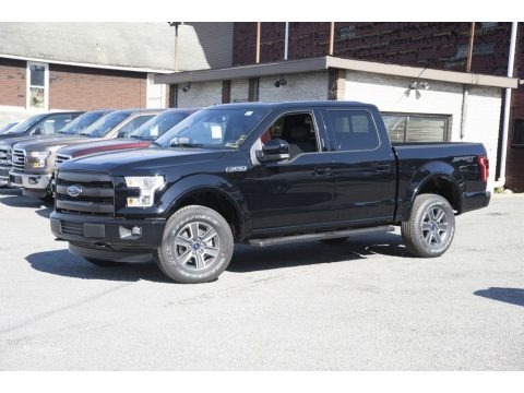 Shadow Black Ford F150 Lariat SuperCrew 4x4.  Click to enlarge.