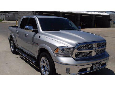 Bright Silver Metallic Ram 1500 Laramie Crew Cab 4x4.  Click to enlarge.