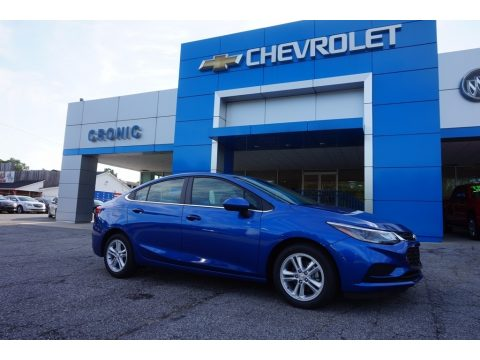 Kinetic Blue Metallic Chevrolet Cruze LT Sedan.  Click to enlarge.