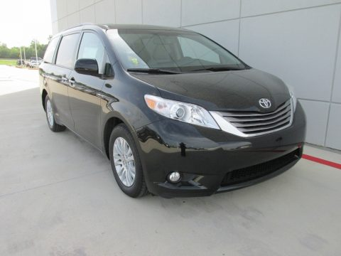 Midnight Black Metallic Toyota Sienna XLE Premium.  Click to enlarge.
