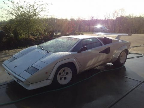 White Lamborghini Countach LP5000 S.  Click to enlarge.