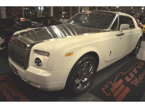 English White Rolls-Royce Phantom Coupe.  Click to enlarge.