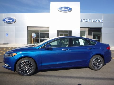 Lightning Blue Ford Fusion Titanium AWD.  Click to enlarge.