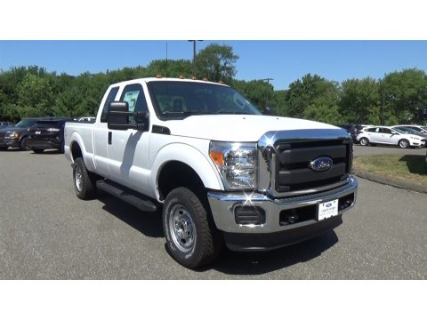 Oxford White Ford F250 Super Duty XL Super Cab 4x4.  Click to enlarge.