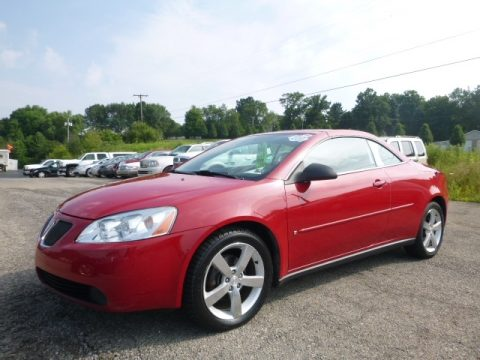Crimson Red Pontiac G6 GT Convertible.  Click to enlarge.