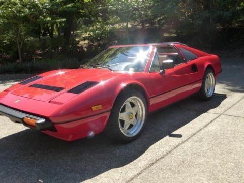 Rosso (Red) Ferrari 308 GTS Quattrovalvole.  Click to enlarge.