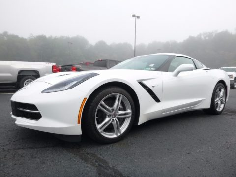 Arctic White Chevrolet Corvette Stingray Coupe.  Click to enlarge.