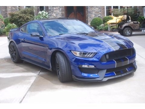 Deep Impact Blue Metallic Ford Mustang Shelby GT350.  Click to enlarge.