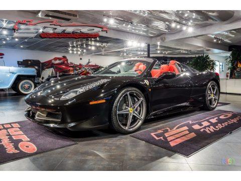 Nero Pastello (Black) Ferrari 458 Spider.  Click to enlarge.