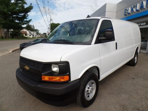 Summit White Chevrolet Express 3500 Cargo Extended WT.  Click to enlarge.