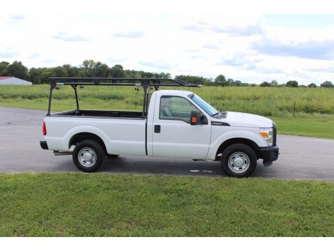 Oxford White Ford F250 Super Duty XL Regular Cab.  Click to enlarge.