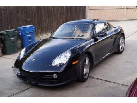Black Porsche Cayman .  Click to enlarge.