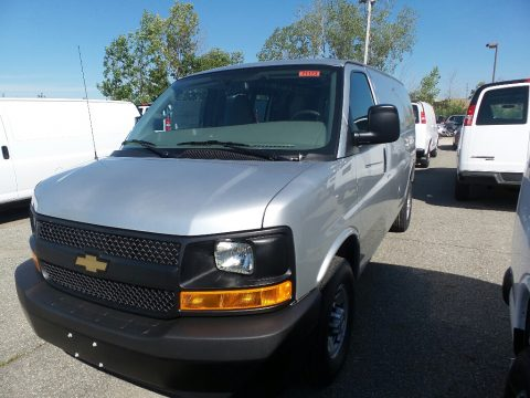 Silver Ice Metallic Chevrolet Express 2500 Cargo WT.  Click to enlarge.
