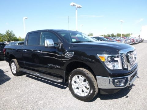 Magnetic Black Nissan TITAN XD SL Crew Cab 4x4.  Click to enlarge.