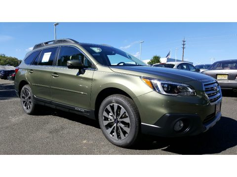Wilderness Green Metallic Subaru Outback 3.6R Limited.  Click to enlarge.