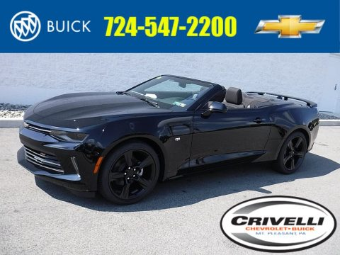 Black Chevrolet Camaro LT Convertible.  Click to enlarge.