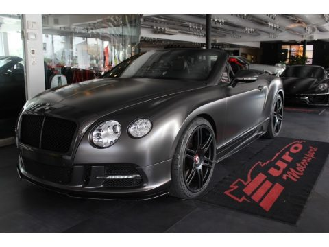 Anthracite Metallic Bentley Continental GTC V8 .  Click to enlarge.
