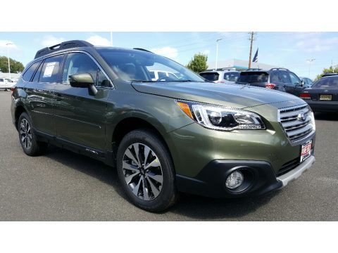 Wilderness Green Metallic Subaru Outback 2.5i Limited.  Click to enlarge.