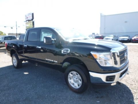 Magnetic Black Nissan TITAN XD SV Crew Cab 4x4.  Click to enlarge.