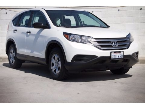 White Diamond Pearl Honda CR-V LX.  Click to enlarge.