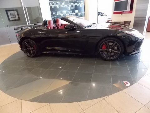 Ultimate Black Jaguar F-TYPE SVR AWD Convertible.  Click to enlarge.