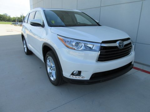 Blizzard Pearl Toyota Highlander Limited Platinum.  Click to enlarge.