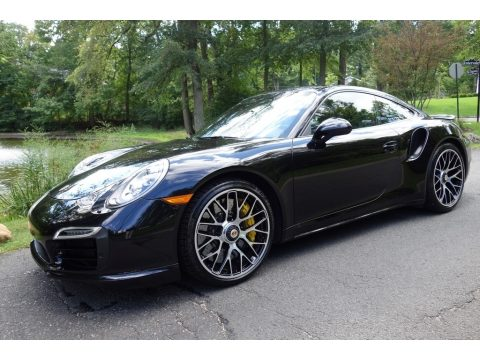 Black Porsche 911 Turbo S Coupe.  Click to enlarge.