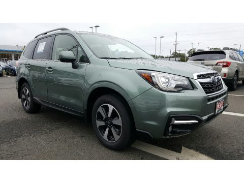 Jasmine Green Metallic Subaru Forester 2.5i Limited.  Click to enlarge.