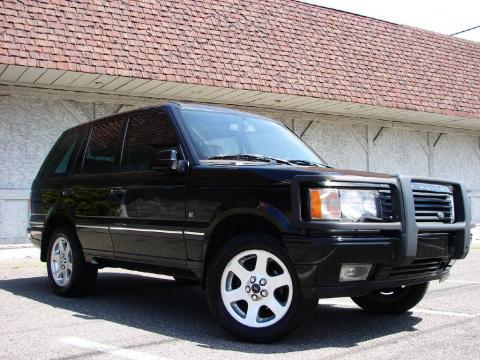 Java Black 2002 Land Rover Range Rover 4.6 HSE with Ash Black interior Java