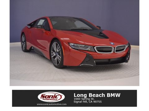 Protonic Red Metallic BMW i8 .  Click to enlarge.