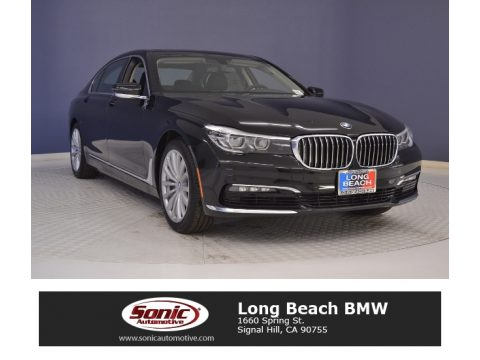 Jet Black BMW 7 Series 740i Sedan.  Click to enlarge.