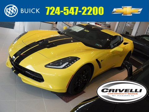 Corvette Racing Yellow Tintcoat Chevrolet Corvette Stingray Coupe.  Click to enlarge.