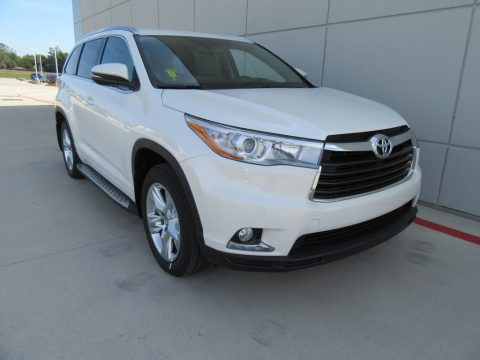 Blizzard Pearl Toyota Highlander Limited.  Click to enlarge.