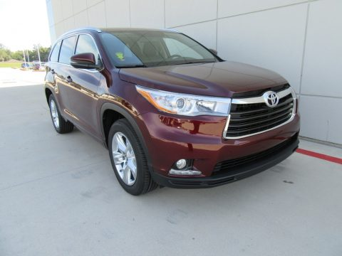 Ooh La La Rouge Mica Toyota Highlander Limited.  Click to enlarge.
