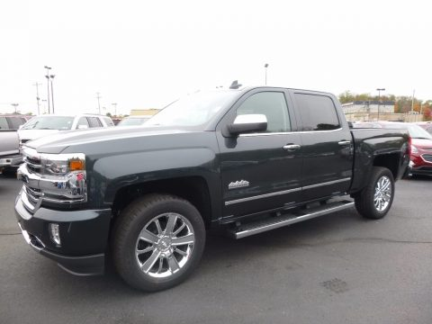 Graphite Metallic Chevrolet Silverado 1500 High Country Crew Cab 4x4.  Click to enlarge.
