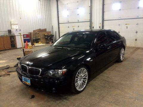 Black Sapphire Metallic BMW 7 Series 750Li Sedan.  Click to enlarge.