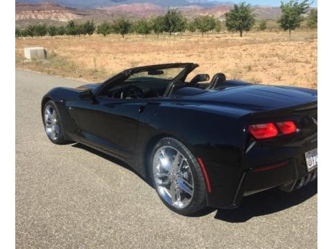 Black Chevrolet Corvette Stingray Convertible.  Click to enlarge.