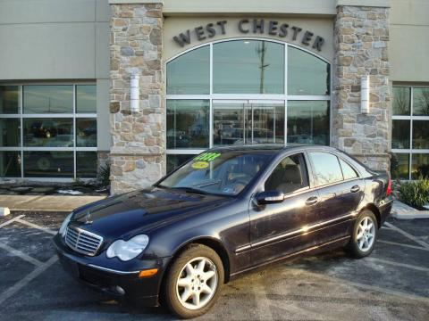 Midnight Blue Mercedes-Benz C 240 4Matic Sedan.  Click to enlarge.