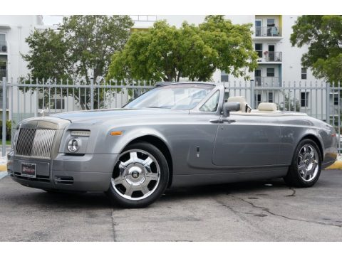Jubilee Silver Rolls-Royce Phantom Drophead Coupe.  Click to enlarge.