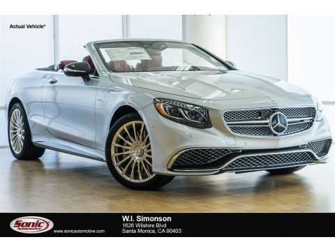 Iridium Silver Metallic Mercedes-Benz S 65 AMG Cabriolet.  Click to enlarge.
