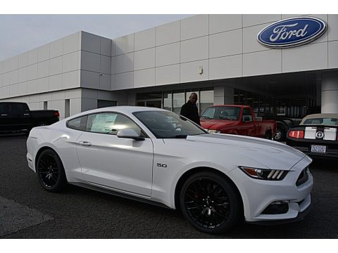 Oxford White Ford Mustang GT Coupe.  Click to enlarge.