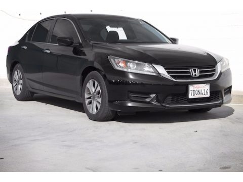 Crystal Black Pearl Honda Accord LX Sedan.  Click to enlarge.