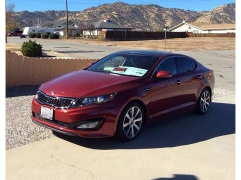 Remington Red Kia Optima SX.  Click to enlarge.