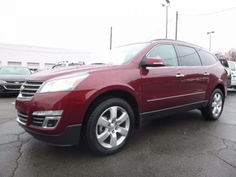 Siren Red Tintcoat Chevrolet Traverse Premier AWD.  Click to enlarge.